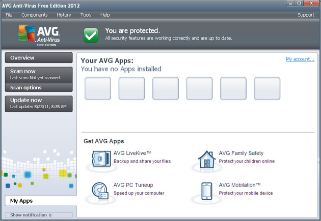 AVG Anti-Virus Free Edition 2012